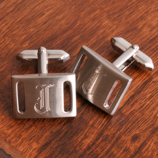 Marlon Brushed Silver Cufflinks