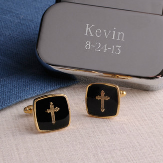 Gold Cross Cufflinks