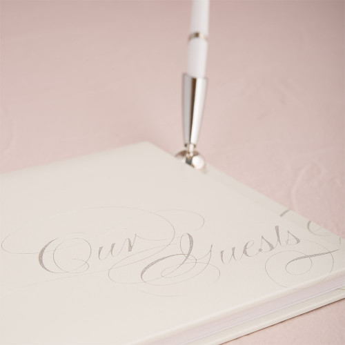 Pure Elegance Special Occasion Guest Book With Pen