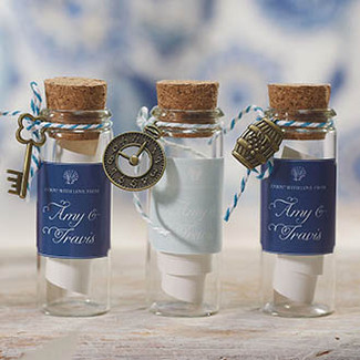 Mini Clear Glass Bottles with Cork