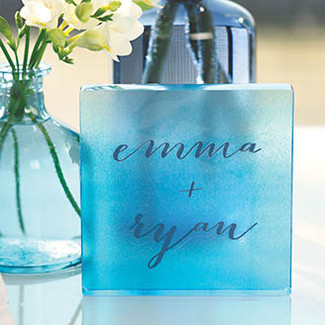 Aqueous Personalized Clear Acrylic Cake Topper