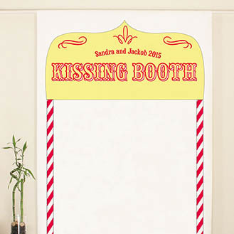 Kissing Booth Personalized Photo Back Drop