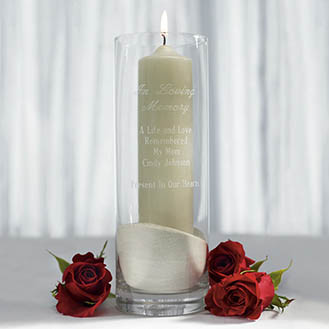 Memorial Glass Candle Holder