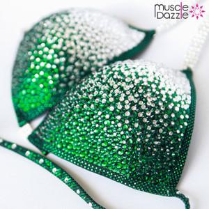 Dark Green Crystal Competition Bikini (CB095)