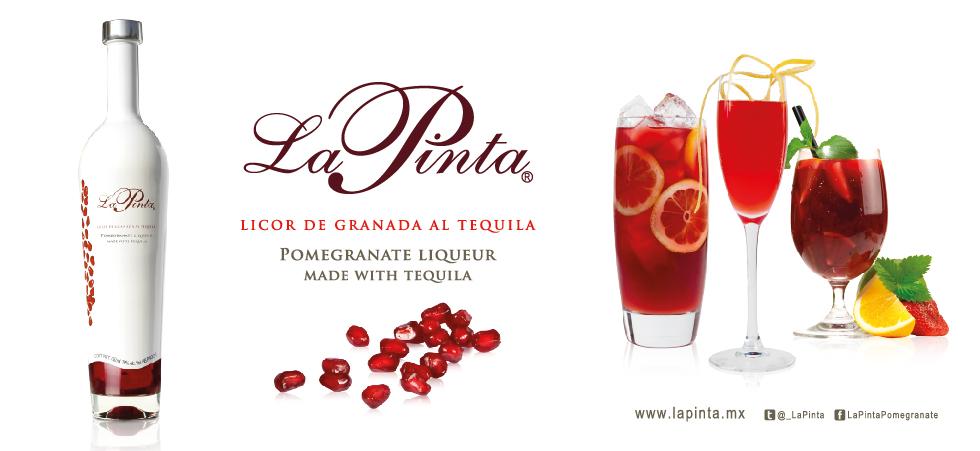 La Pinta Licor De Granada Al Tequila Pomegranate Liqueur Made With Tequila