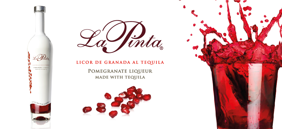 La Pinta Licor De Granada Al Tequila Pomegranate Liqueur Made With Tequila
