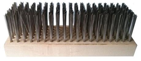 Flat soft wire hoof brush