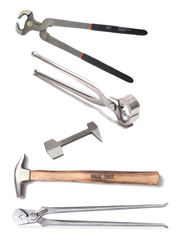 Farrier starter kit with Nordic Forge and Kahn Forge tools