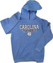 J. America Youth Poly Fleece Hood-Carolina Blue