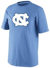 Carolina Blue short sleeve tee shirt with a big interlocking NC on the front.