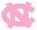 Carolina DECAL - Interlocking NC - Pink