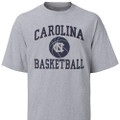 Gray Carolina Basketball tee with a big basketball icon