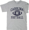 Gray Carolina football tee - with big football icon