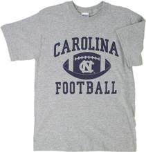 Gray Carolina football tee - with big football icon