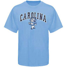 Carolina blue tee shirt with the strutting ram