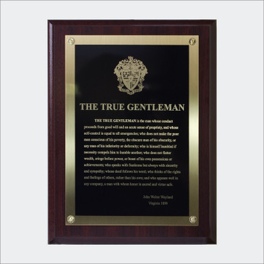 the true gentleman plaque the greek marketplace. Black Bedroom Furniture Sets. Home Design Ideas