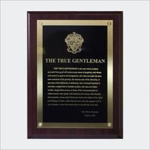 """""""The True Gentleman"""" Plaque"""