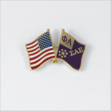U.S. and ΣAE Flags Pin