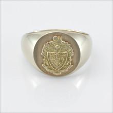 Round Signet Crest Ring