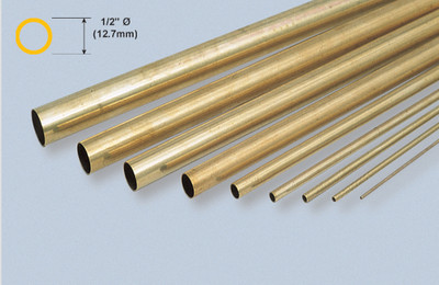 "K&S 139 Brass 1/2"" Round tube"