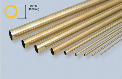 "K&S 143 Brass 5/8"" Round tube"