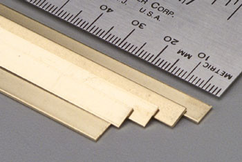 "K&S 233 0.16"" x 3/4"" Brass Strip"