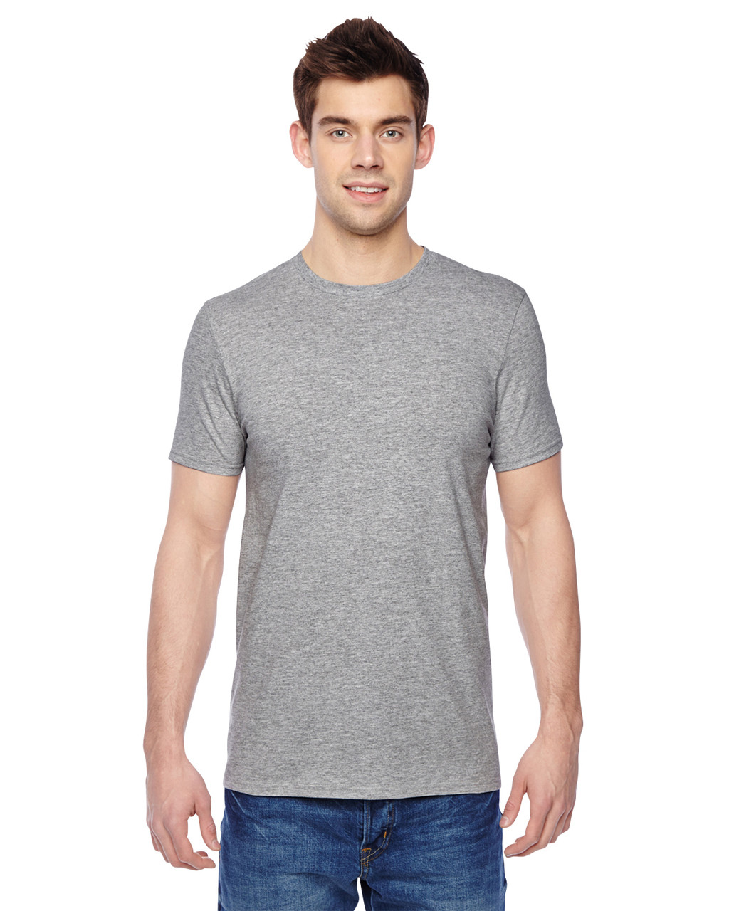Athletic Heather SF45R Fruit of the Loom SoftSpun Cotton T-Shirt