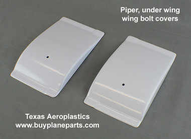 Piper main wing bolt covers replace Piper part number 63942-01 right and 63942-00 left Product number 60-63942-80A.