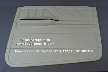 CESSNA INTERIOR PLASTIC PARTS, Cessna Door Panels 170,170B, 172,175,180,182,185 (Custom design with armrests) Right door panel shown here.