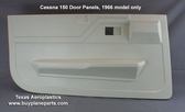 Shop Cessna Interior plastic parts at Texas Aeroplastics. Cessna 150F interior door panels for 1966 models.  Replaces Cessna part numbers 0400128-3 (left) 0400128-4 (right) Left door panel shown.