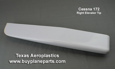 CESSNA 172, ELEVATOR TIP (Right) by TEXAS AEROPLASTICS,  The most popular Cessna 172 Elevator Tip replacement part. Eligible for (1963-1986)(Includes 172R and 172S models) TAP sku# 28-09R-80A,  OEM part #0532001-100,