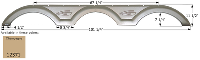Gulf Stream Triple Axle Fender Skirt FS2371