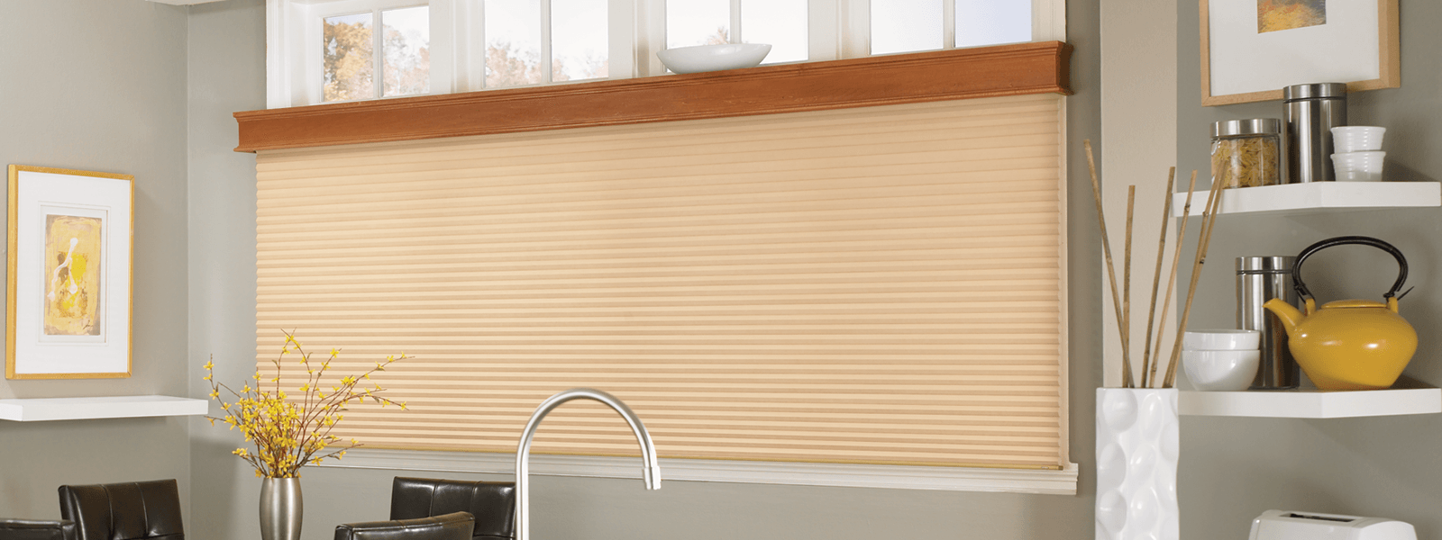 Window blind outlet for 2 way window blinds