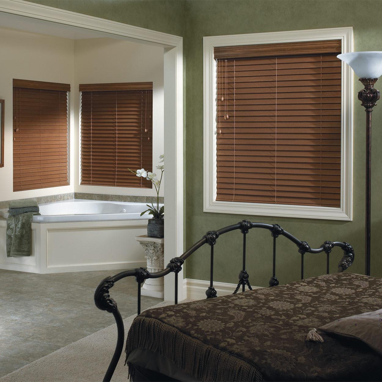 Decorative Wooden Blinds : Premium custom faux wood blinds window blind outlet