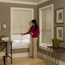 Cordless Aluminum Mini Blind in Bone