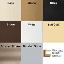 Cordless Mini Blinds Color Swatches