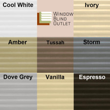 Mirage Light Filtering Color Choices