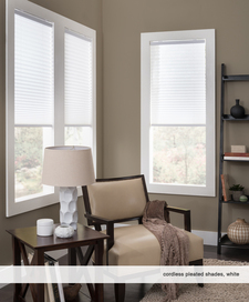 Cordless Pleated Shade White
