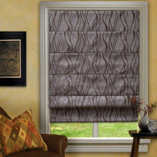 Everest roman shade in taupe
