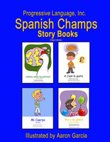 Four delightful children's Spanish stories.