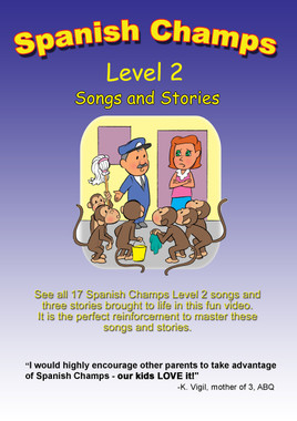 Spanish Champs Level 2 Song and Story DVD is a fun way for children to learn Spanish.