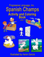 10 x Spanish Activity and Coloring Book