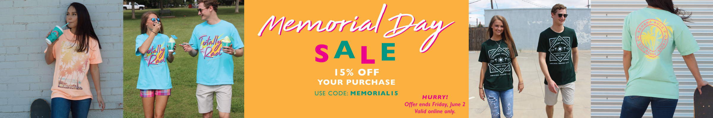 Use code MEMORIAL15 for 15% off your order!