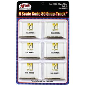 Atlas N 2535 Nickel Silver Rail Joiners