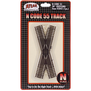 Atlas 2042 30 degree crossing Code 55, N gauge