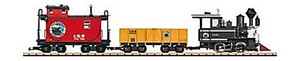 LGB 72426 Lake George & Boulder American Freight Train Starter Set G Scale