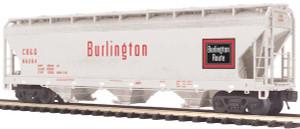 MTH O scale 20-97749 Burlington CB&Q 3-bay Centerflow Hopper #86284