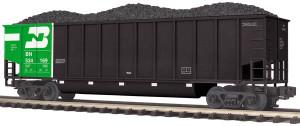 MTH O scale 20-97790 BN Coalporter Hopper with Coal Load #534169