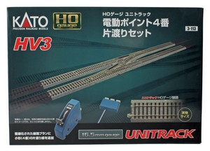 Kato 3-113 HV3 Crossover Set w/ remote control & #4 TurnoutsHO