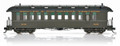 Blackstone B350112 Jackson & Sharp Open Platform Passenger Coaches, 3-car set, 'Chili Line' Cars, Green